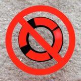 Gelieve te verwijderen niet de veiligheidsring stock afbeeldingen