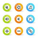 Gelifiqúese los iconos del Web (el vector) Ilustración del Vector