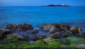 Gelijk makend op de kust van Kreta, Griekenland Royalty-vrije Stock Foto's
