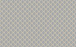 Gelijkaardig patroon als achtergrond, grijze vissenschalen, weerspiegelende gele randen Japanse stijlachtergrond - vector stock illustratie