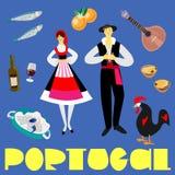 Gelijkaardige Portugalien vector illustratie