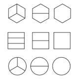 Gelijke die Aandelen en de Helften op witte vector worden geïsoleerd als achtergrond vector illustratie
