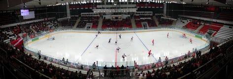 Gelijke op hockeystadion Royalty-vrije Stock Afbeeldingen