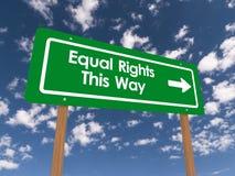 Gelijke rechten deze manier vector illustratie