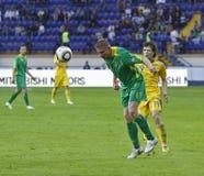 Gelijke van de de teamsvoetbal van de Oekraïne - van Litouwen de nationale Stock Foto