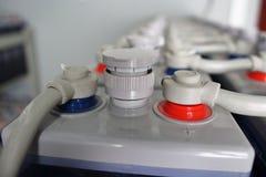 Gelijkstroom-batterijmacro Royalty-vrije Stock Fotografie