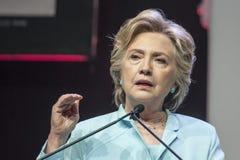 Gelijkstroom: Hillary Clinton-verschijning bij de Overeenkomst van NABJ NAHJ Royalty-vrije Stock Foto's