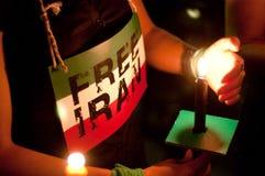 Gelijkstroom Vigil voor Iran Royalty-vrije Stock Afbeelding