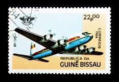 Gelijkstroom-68 vliegtuig, 40ste Verjaardag van Burgerluchtvaart serie, circa 198 Royalty-vrije Stock Afbeeldingen