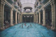 Gellert bath. Historical indoor bath of Gellért spa in Budapest - Hungary Royalty Free Stock Image