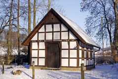 Gellenbecker mill in winter, Hagen, Germany. Gellenbecker mill in winter, Hagen, Osnabruecker land, Lower Saxony, Germany Stock Image