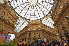 Gelleria Vittorio Emanuele II à Milan Images stock