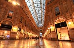 Gelleria Vittorio Emanuele II à Milan Images libres de droits
