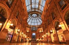 Gelleria Vittorio Emanuele II à Milan Photo stock