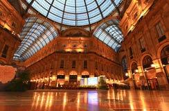 Gelleria Vittorio Emanuele II in Milaan Stock Fotografie