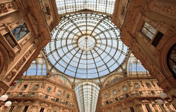 Gelleria Vittorio Emanuele II in Milan. The Galleria Vittorio Emanuele II is a covered arcade situated on the northern side of the Piazza del Duomo in Milan Royalty Free Stock Image