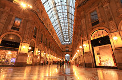 Gelleria Vittorio Emanuele II in Milan Royalty Free Stock Images