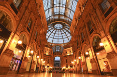 Gelleria Vittorio Emanuele II in Milan Stock Photo