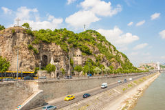 Gellert hill in Budapest, Hungary Royalty Free Stock Image