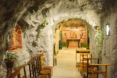 Gellert Hill Cave Church, Budapest, Hungary Stock Photos