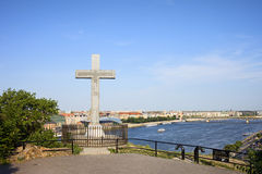 Gellert Hill Cross in Budapest Royalty Free Stock Image