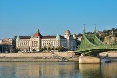 Gellert skąpania i swoboda most Obraz Royalty Free