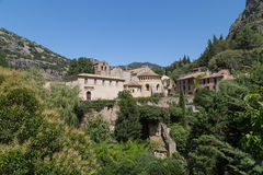 Gellone Monastery at Saint-Guilhem-le-Desert, UNSECO Royalty Free Stock Photo