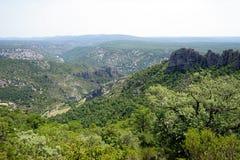 Gellone valley. Near Saint-Guilhem-le-Desert, France royalty free stock photo