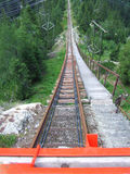 Gelmerbahn steepest funicular in Europe Royalty Free Stock Photo