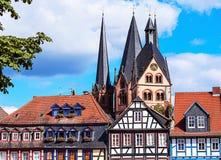 Gelnhausen, historische oude stad in Duitsland. Royalty-vrije Stock Fotografie