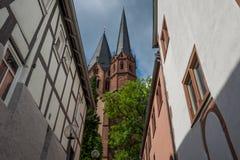 Gelnhausen-Kirche Stockfotografie