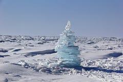 Gelo-árvore do Natal imagens de stock royalty free