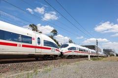 GELO alemão do trem de alta velocidade Fotografia de Stock