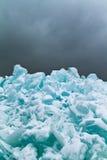 Gelo azul imagens de stock