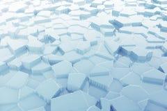 Gelo azul abstrato com fundo das reflexões rendição 3d Imagens de Stock Royalty Free