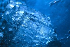 Gelo azul bonito Fotografia de Stock
