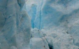 Gelo azul Cayon da geleira foto de stock royalty free