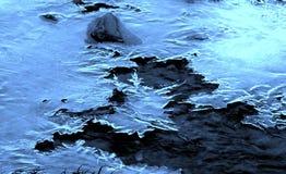 Gelo azul em Eno River Fotografia de Stock