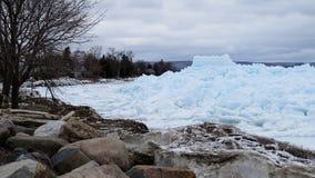 Gelo azul em Meaford, Ontário, Canadá Foto de Stock Royalty Free