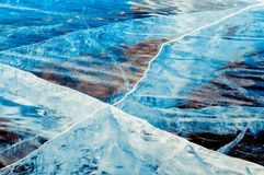 Gelo azul profundo transparente imagem de stock royalty free