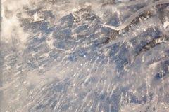 Gelo claro em um rio congelado Fotos de Stock Royalty Free