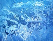 Gelo colorido Abstraia a textura do gelo Fundo da natureza Fotografia de Stock