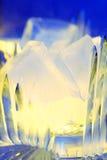Gelo colorido no close up de vidro Imagem de Stock