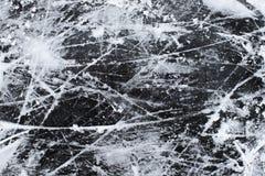 Gelo com fundo da textura da neve e dos riscos foto de stock