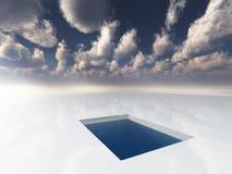 Gelo como a superfície Imagens de Stock