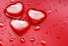 Gelo da forma do coração Foto de Stock