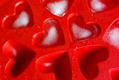 Gelo da forma do coração Fotos de Stock