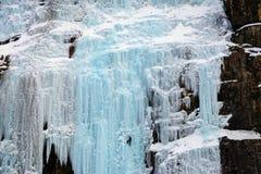 Gelo de escalada Foto de Stock Royalty Free