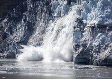 Gelo de queda da baía de geleira foto de stock royalty free