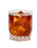 Gelo de vidro do whith do uísque Imagem de Stock
